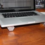 Alu-Barren als Laptop-Stützen